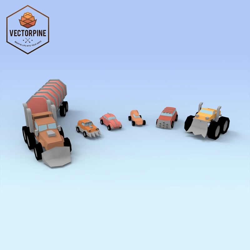 3d model of raider cars
