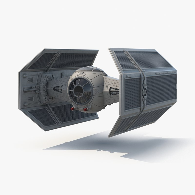 vaders tie fighter 3d model