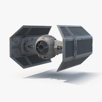vaders tie fighter 3d model