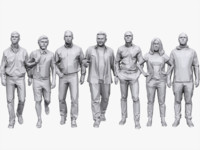 3d model people pack casual