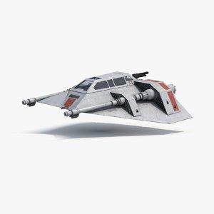 snowspeeder x 3d model