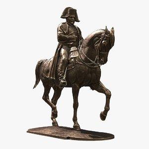 statue napoleon ue 3d x
