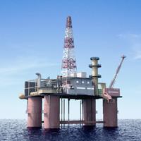 oil rig station 3d model