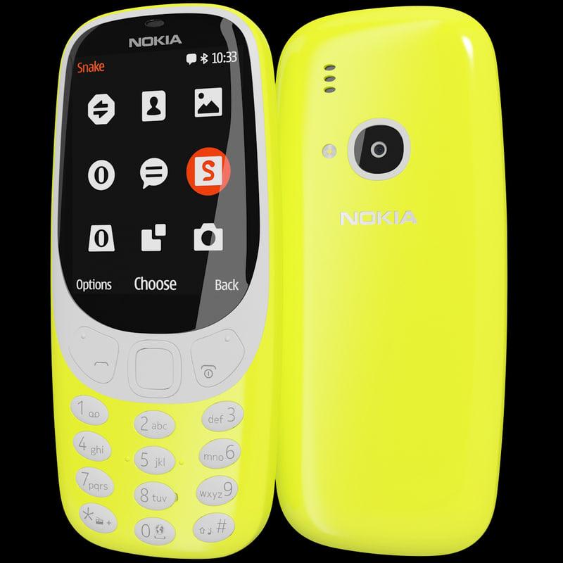 3d realistic nokia 3310 2017 model