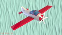 Cartoon Plane Low Poly