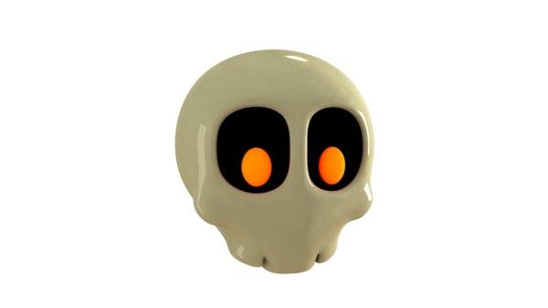 3d skull toon