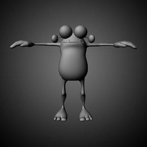 3d cartoon monster character