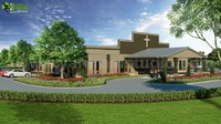 New Modern Architectural Rendering Studio of the USA Church