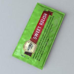 c4d heinz sweet relish packet