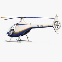 3d model training helicopter guimbal cabri