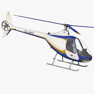 3d training helicopter guimbal cabri model