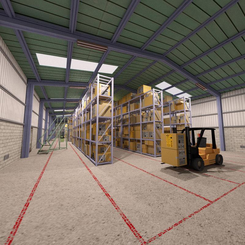 obj warehouse forklift