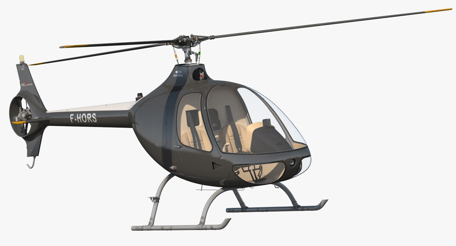 helicopter guimbal cabri g2 3d model