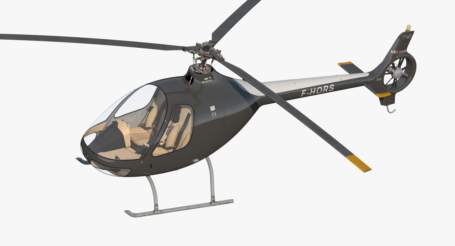 helicopter guimbal cabri g2 3d max