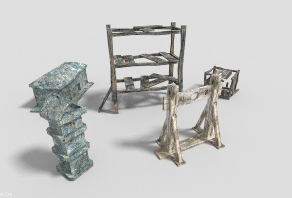 3d model pack 5 dungeon props