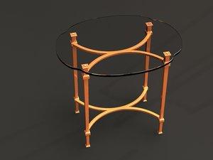 hooker table 3d model