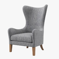jackson wingback chair s 3d max
