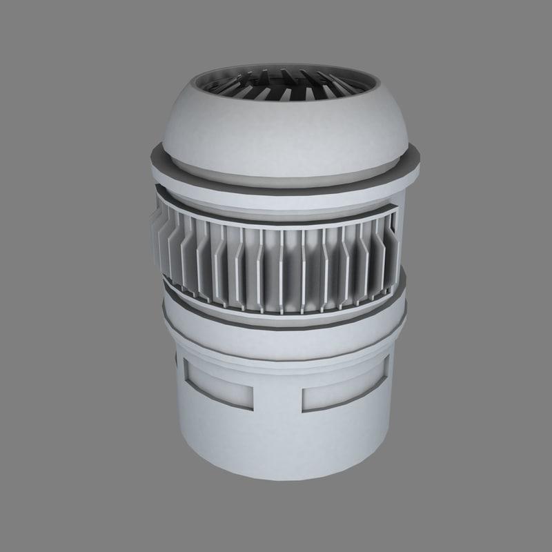 industrial turbine b 3d obj