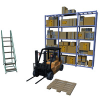 Warehouse Rack Set_1