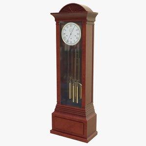 obj grandfather clock