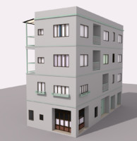 Tokyo Building Low Poly