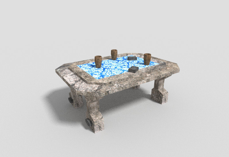 dungeon table 3d 3ds