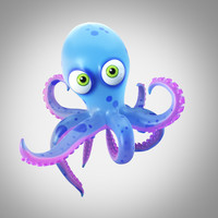 3d cartoon octopus