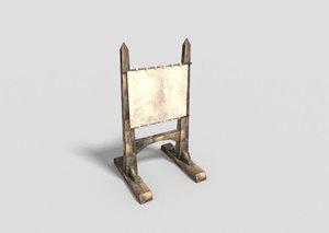 dungeon board 3d obj