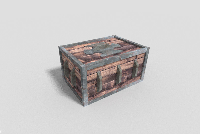 dungeon crate 3d model