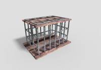3d dungeon cage model