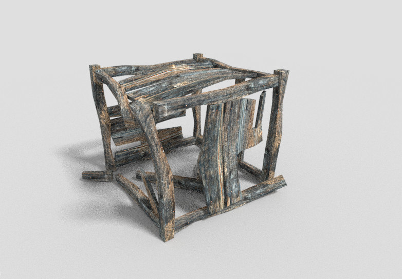3d dungeon crate model