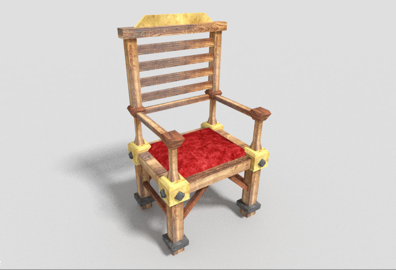 dungeon armchair 3d 3ds