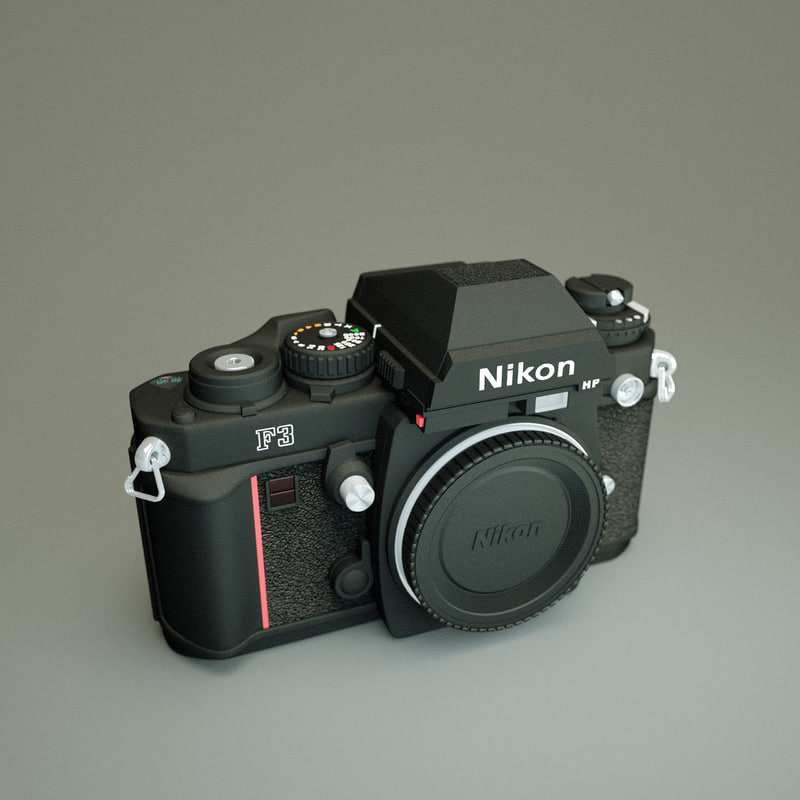 3d old nikon f3 camera