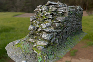 obj old mossy stone half