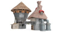 3d bulding concept model
