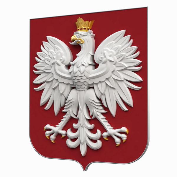 coat arms poland c4d