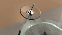 3d faucet glass