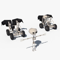 free skeleton character car 3d model