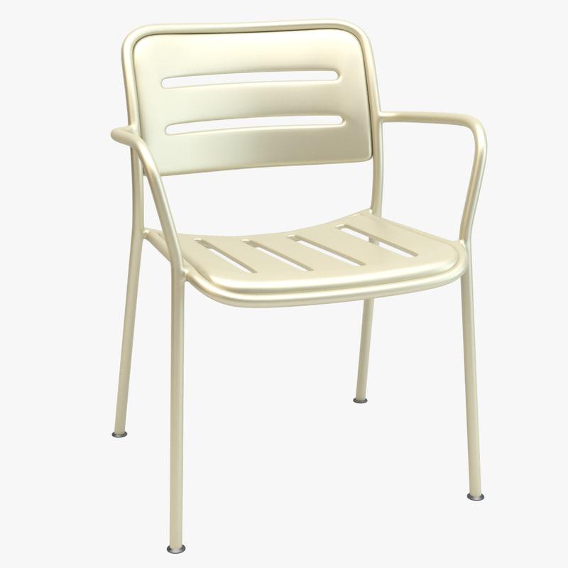 3d model of kettal village chair