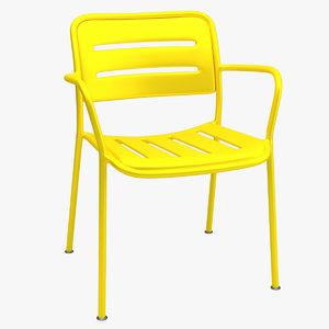 kettal village chair 3d x