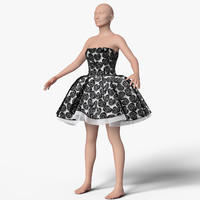 dress female mannequin 3d model