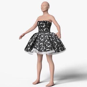 dress female mannequin 3d model