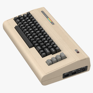 3d commodore 64 keyboard -