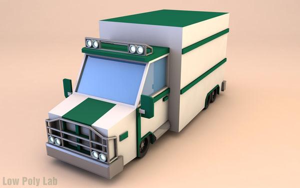 truck polygonal 3d model