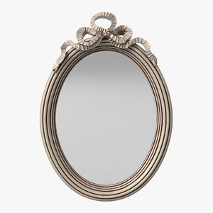oval victorian mirror 3d model