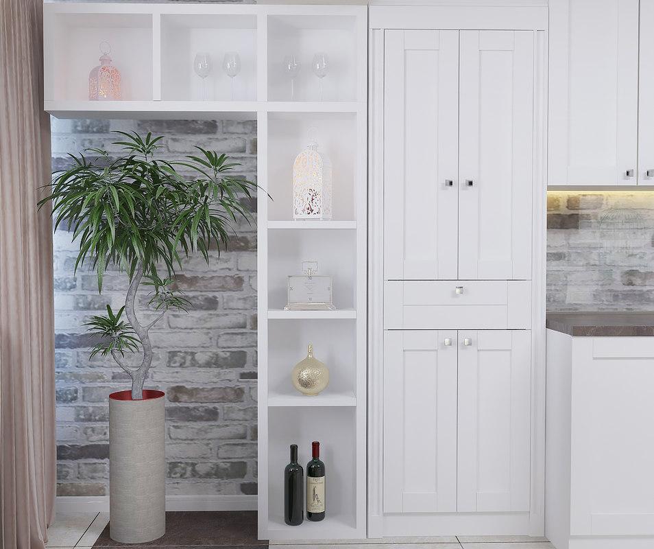 classic interior kitchen 3d model