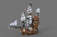 3d ship lego model