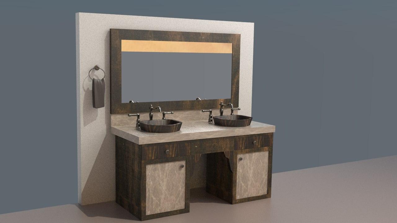 bathroom design v1 3d max