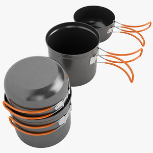 3d model camping cookware cook