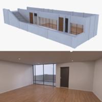 modern pier bar interior 3d model